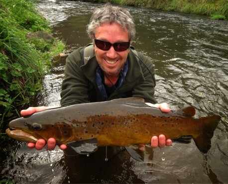 Waikato Fly Fishing brown trout stream catch